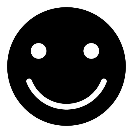 Smile it is the black color icon . Illustration