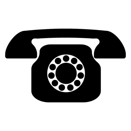 Retro telephone it is the black color icon . Illusztráció