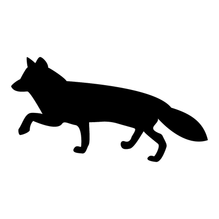 Fox of silhouettes it is the black color icon .