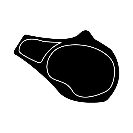 rare: Steak it is the black color icon .