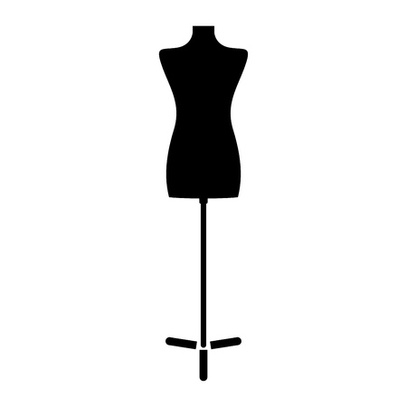 er: Fashion stand, female torso mannequin it is the black color icon .