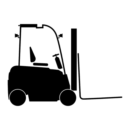 Electric loader it is the black color icon .