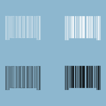 The barcode the black and white color icon .