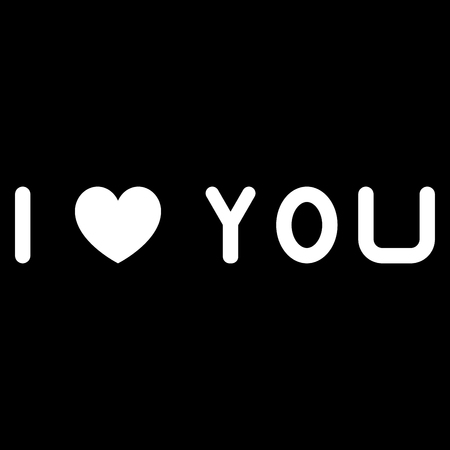 I love you it is the white color icon . Иллюстрация