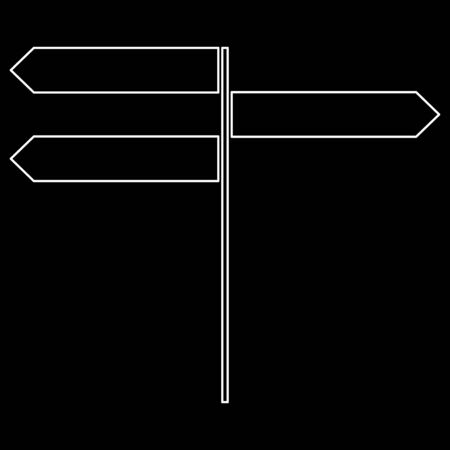 Direction sign   it is the white path icon . Illustration