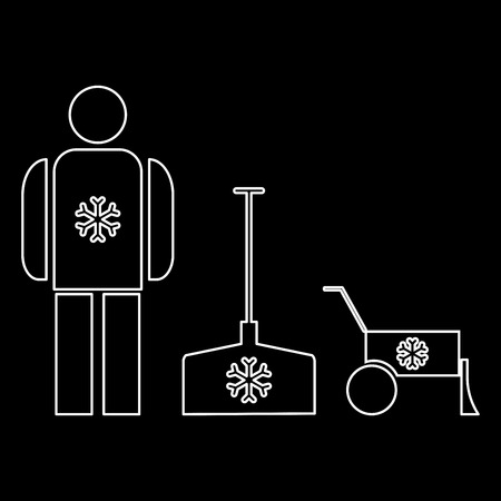 Snow removal   it is the white path icon .