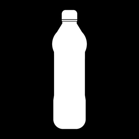 thirsty: Water plastic bottle it is the white color icon . Illustration