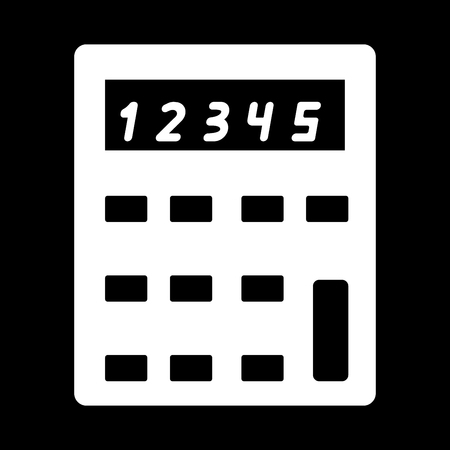 calculating: Calculator it is the white color icon .