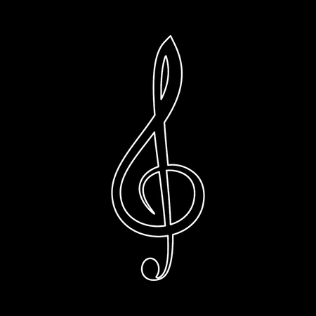 g clef: Treble clef   it is the white path icon .