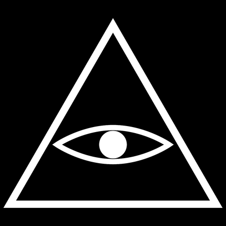All seeing eye symbol it is the white color icon .