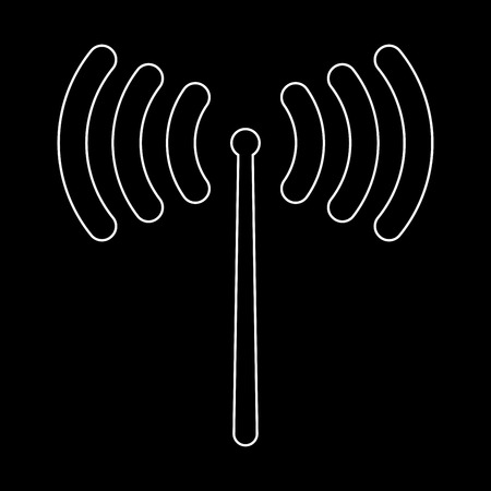 wireless signal: Radio signal   it is the white path icon .