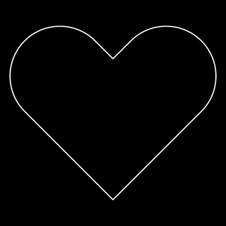 Heart   it is the white path icon .
