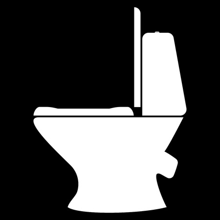 empty the bowel: Toilet bowl it is the white color icon .