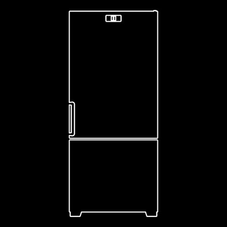 Refrigerator   it is the white path icon .
