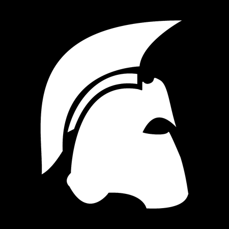 Spartan helmet it is the white color icon .
