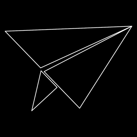 Paper airplane   it is the white path icon . Illustration