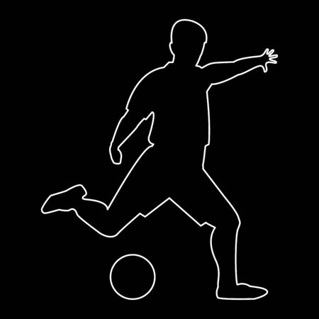 soccer goal: Footballer   it is the white path icon .