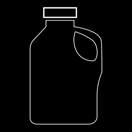 adapters: Household chemicals   it is the white path icon . Illustration