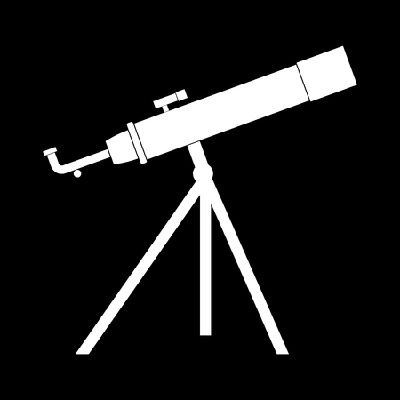 Telescope it is the white color icon .