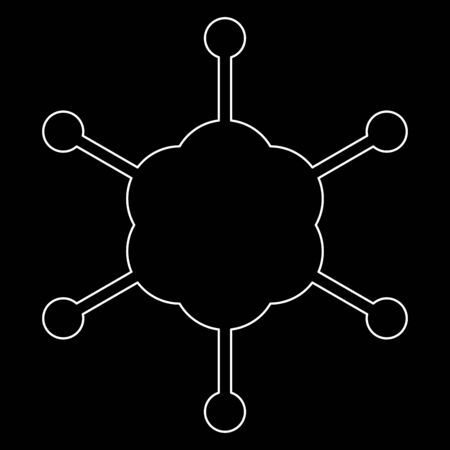 Business network it is the white path icon .