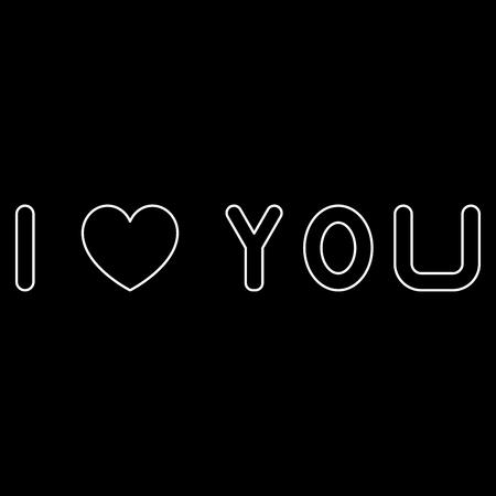 あなたを愛して白いパスのアイコンが表示されます。  イラスト・ベクター素材