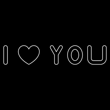 I love you it is the white path icon . Ilustrace