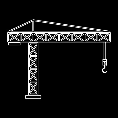elevate: Building crane it is the white path icon . Illustration