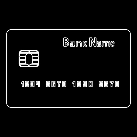 transact: Bank cit card it is the white path icon .