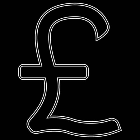 Pound sterling it is the white path icon .