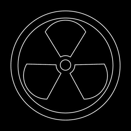 radium: Sign radioactive it is the white path icon .