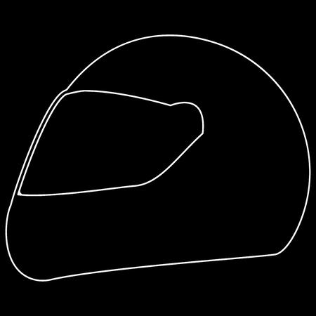 Racing helmet it is the white path icon .