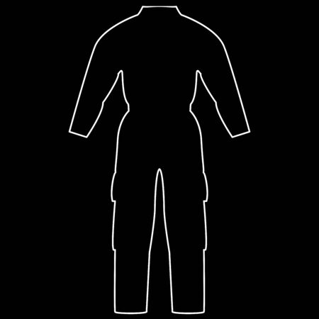 Coverall it is the white path icon .