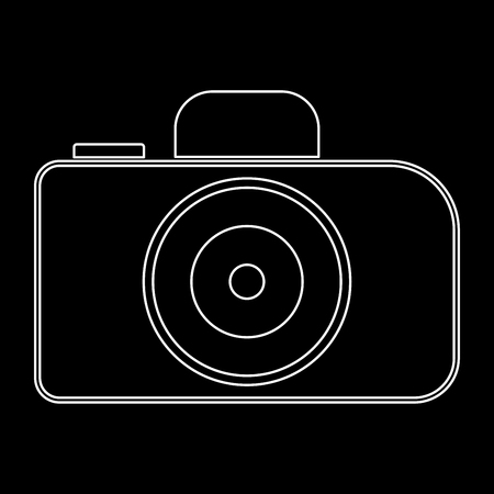 Camera it is the white path icon . Illustration