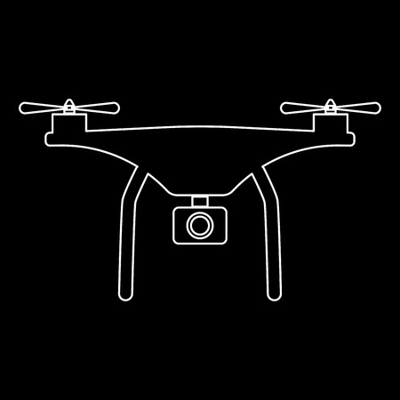 Drone it is the white path icon .