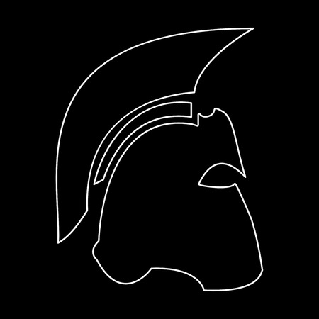 Spartan helmet it is the white path icon .