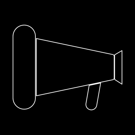 Loud speaker or megaphone it is the white path icon .
