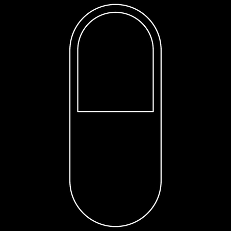 Pill it is the white path icon . Illustration