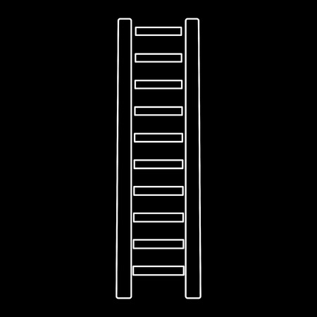 Wooden step ladder it is the white path icon .