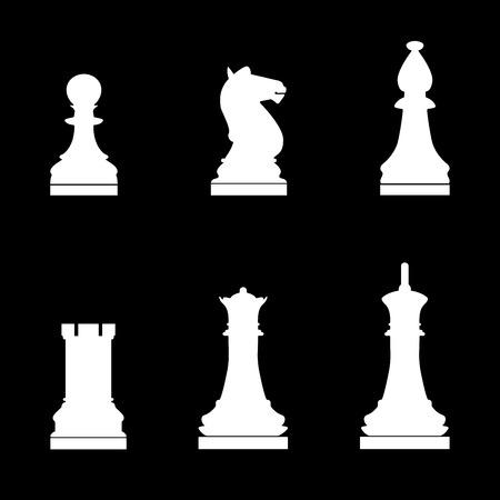 Chess pieces icon .