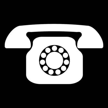 レトロな電話のアイコン。
