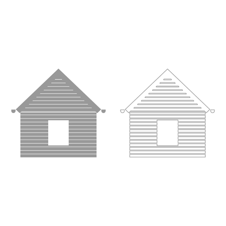 Siding front  set  icon .
