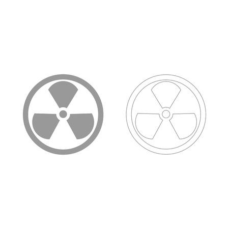 Teken radioactief het is het grijs ingestelde pictogram. Stockfoto - 82341416