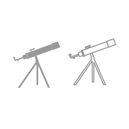 Telescope it is the grey set icon . Illusztráció