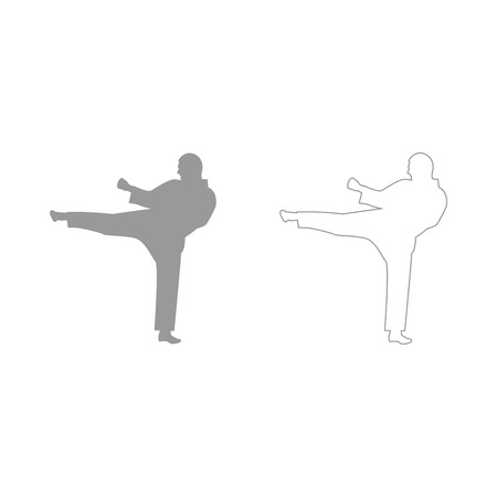 aikido: Karate man  set  icon .