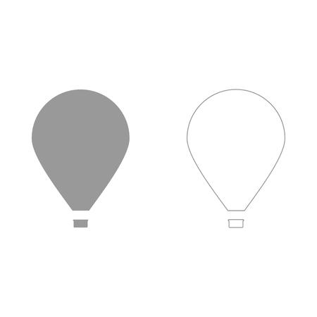 Hot air balloon  set  icon . Иллюстрация