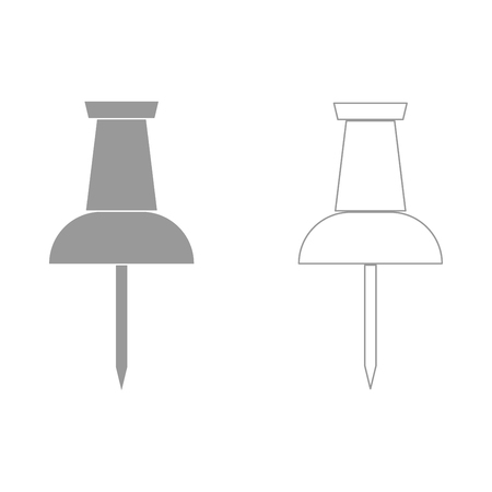 tack: Push pin it is the grey set icon .