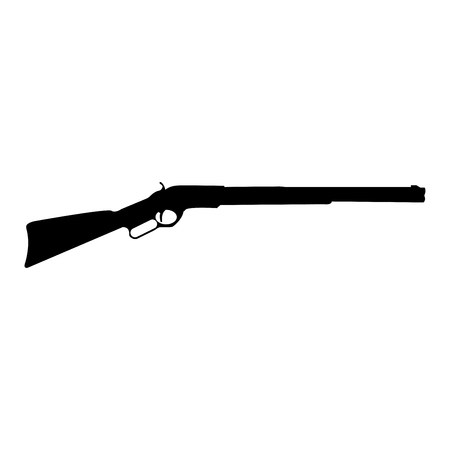Rifle black it is black color icon .