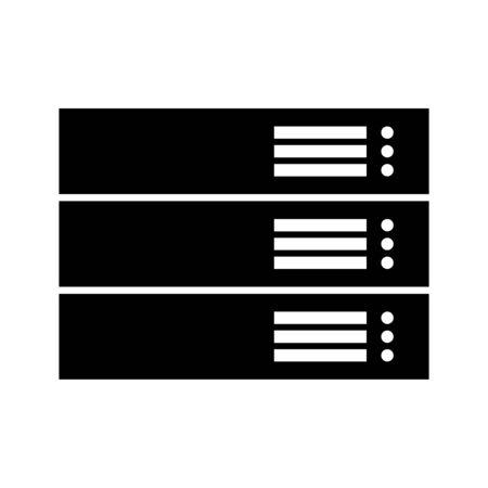 Server black it is black color icon .