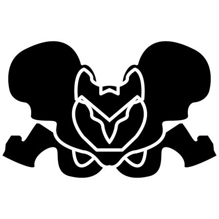 Pelvis skeleton black it is black color icon . Stok Fotoğraf - 82342183