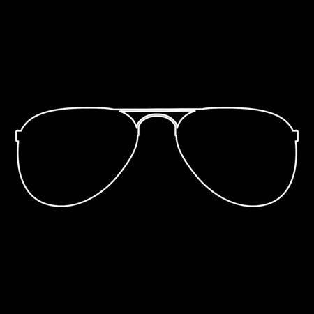 Glasses it is white color path  icon . Illustration